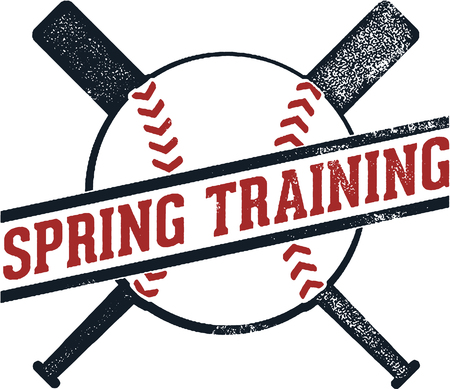 Baseball Spring Training Illustration