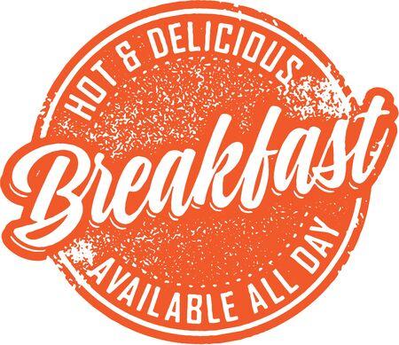 Vintage Breakfast Restaurant Sign