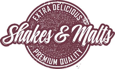 Vintage Shakes & Malts Ice Cream Sign