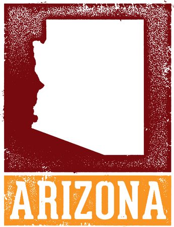 phoenix arizona: Vintage Style Arizona State Sign