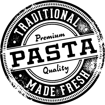 Vintage Italian Pasta Restaurant Sign Illustration