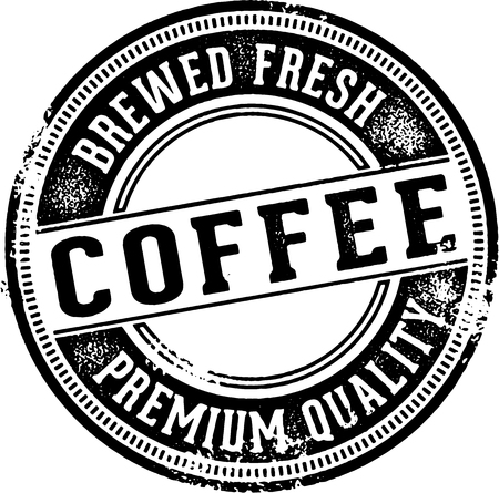 brown: Fresh Brewed Coffee Vintage Sign