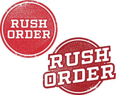 Sellos orden de acometida de envío