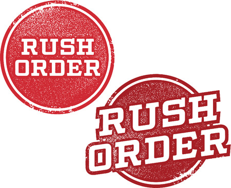 Rush Order Shipping Stamps Illustration