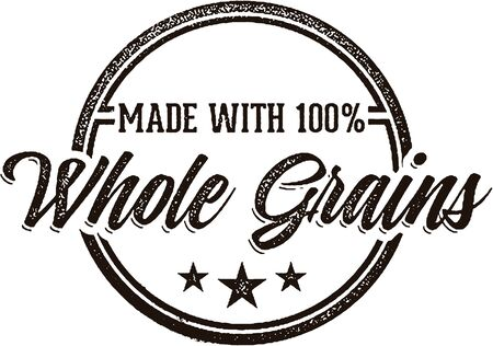 grain: Made with 100% Whole Grains Stamp Illustration