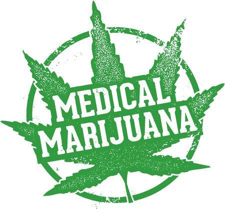 Medical Marijuana Rubber Stamp