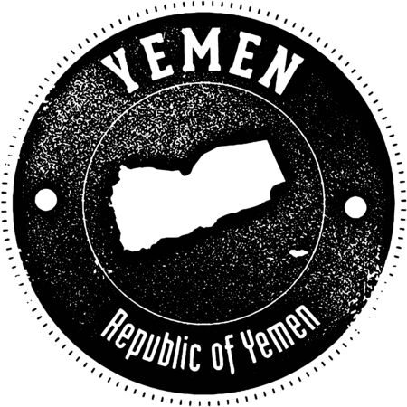 symbol: Vintage style stamp featuring the country of Yemen