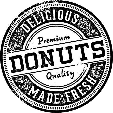 Vintage Donuts Menu Design Stamp