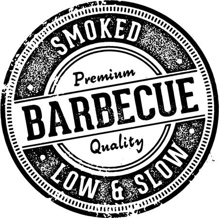 Vintage Style Barbecue grill Znak Ilustracje wektorowe