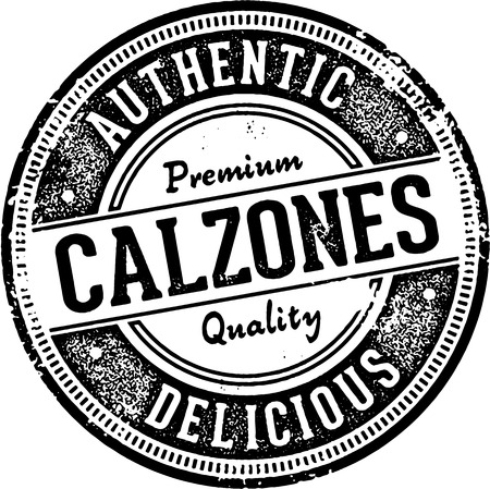distressed: Vintage Style Calzones Italian Restaurant Sign