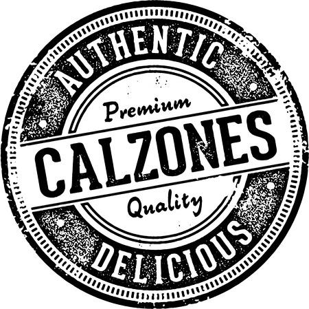 vintage stamp: Vintage Style Calzones Italian Restaurant Sign