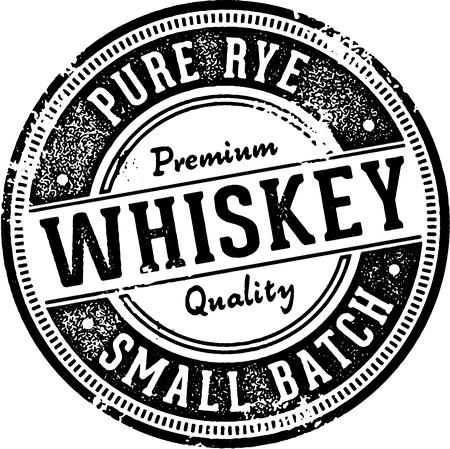 Premium Whiskey Alcohol Sign Illustration