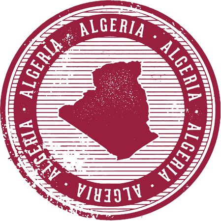 Vintage Algeria African Country Tourism Stamp