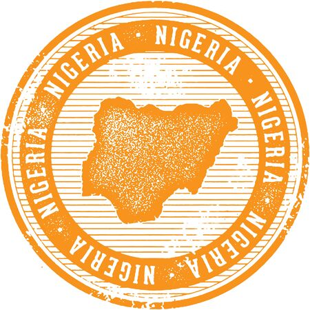 symbol: Vintage Nigeria African Country Tourism Stamp