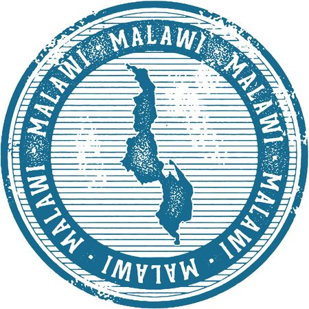 Vintage Malawi African Country Tourism Stamp