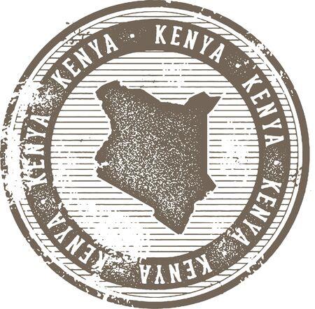 빈티지 케냐 아프리카 국가 관광 우표