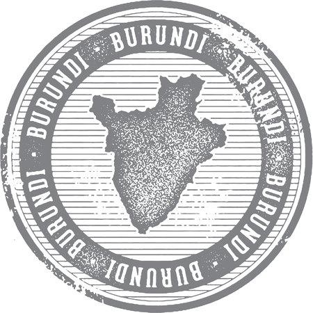 Vintage Burundi African Country Tourism Stamp