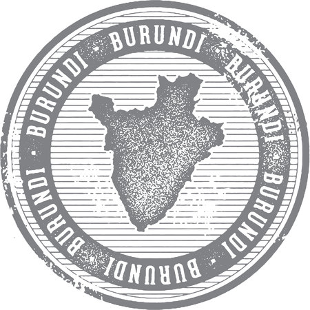 country: Vintage Burundi African Country Tourism Stamp