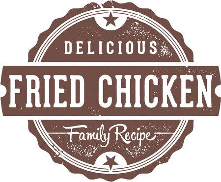 Fried Chicken Vintage Restaurant Sign