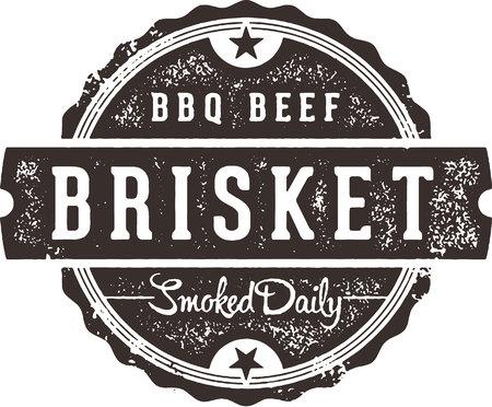 BBQ Beef Brisket Restaurant Sign