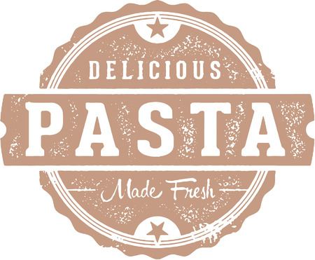 Fresh Italian Pasta Menu Design Illusztráció