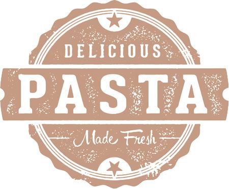 Fresh Italian Pasta Menu Design Illustration