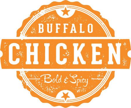 Buffalo Chicken Menu Stamp