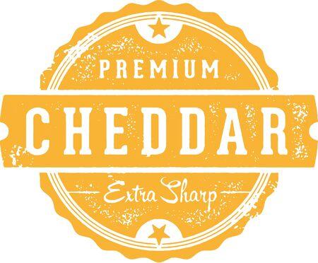 Premium Extra Sharp Cheddar Cheese Illustration