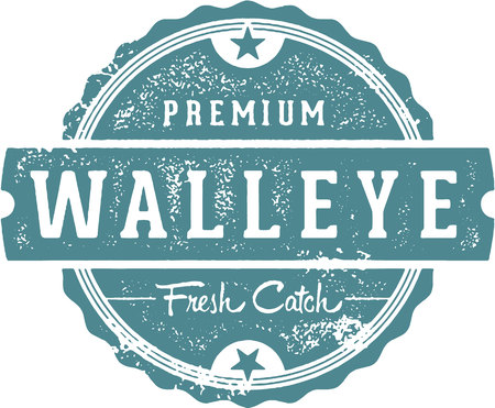 Fresh Walleye Fish Stamp Иллюстрация