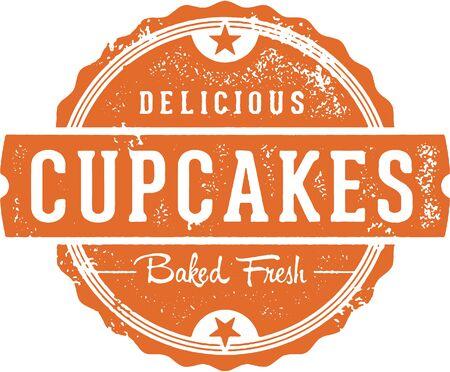 新鮮なおいしいカップケーキ ベーカリー記号