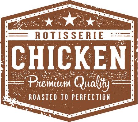 Rotisserie Chicken Vintage Sign
