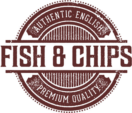 Authentic Fish & Chips Menu Design Stamp