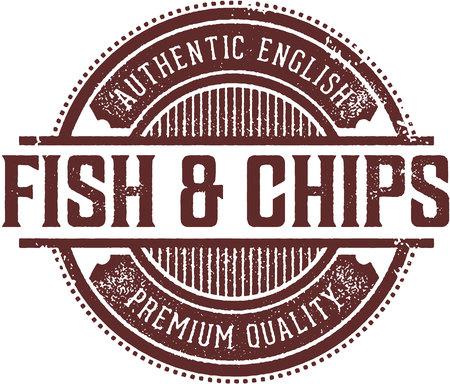 Authentic Fish & Chips Menu Design Stamp