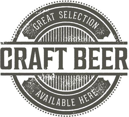 Segno della barra dell'annata della birra del mestiere