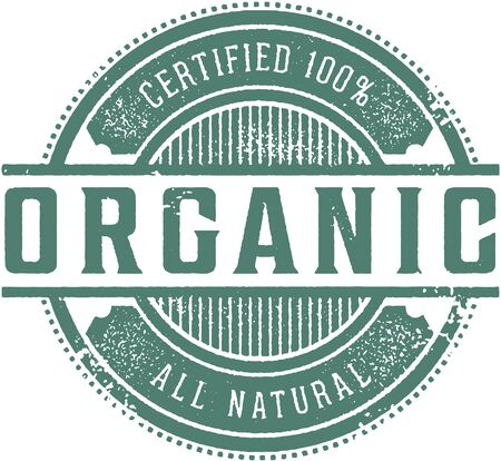 Certified 100% Organic Product Label