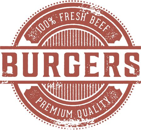 Fresh Burgers Restaurant Sign