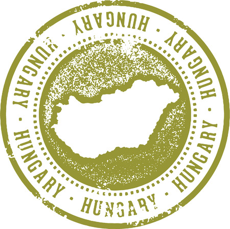 Hungary Country Travel Stamp
