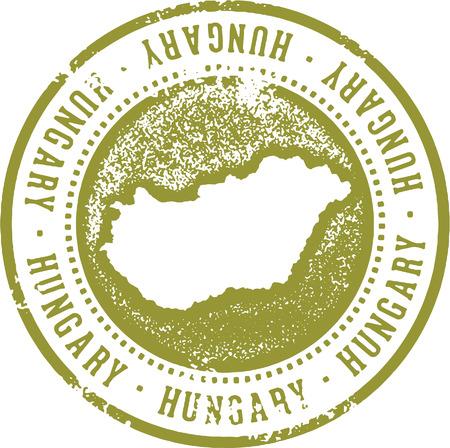 Timbre de voyage de la Hongrie Banque d'images - 87740191