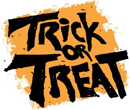 Trick or Treat Halloween Text Banner