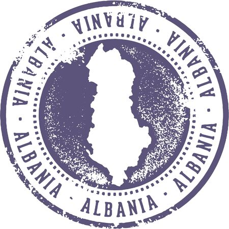 Albania Country Travel Stamp