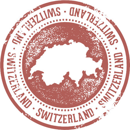 Switzerland Country Travel Stamp