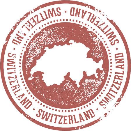 Switzerland Country Travel Stamp
