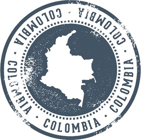 Colombia South American Travel Stamp
