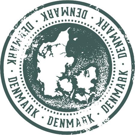 덴마크 국가 여행 우표