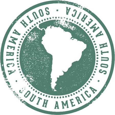 South American Continent Travel Stamp