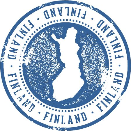 Finland Country Travel Stamp