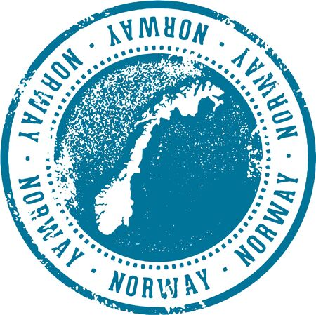 Norway Country Travel Stamp