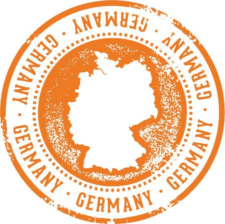 Sello de viaje de país de Alemania Foto de archivo - 87740172
