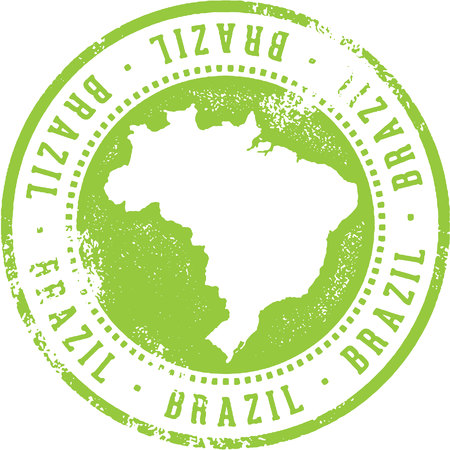 Brazil Country Travel Stamp