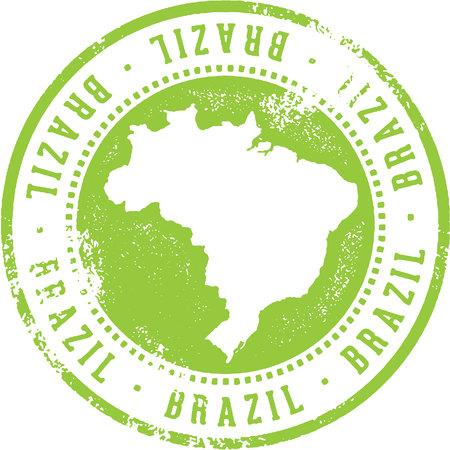 Timbre de voyage de pays du Brésil Banque d'images - 87736392